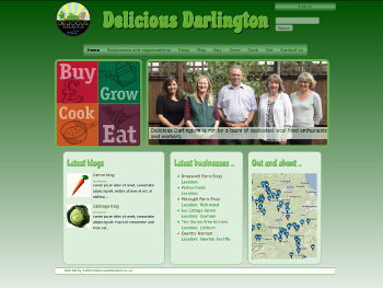 Screenshot from deliciousdarlington.org.uk